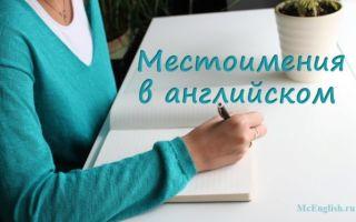 Местоимения в английском языке — Pronouns in English