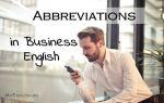 40 Самых популярных аббревиатур в деловом английском