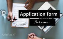Анкета на английском языке и как заполнить Application form