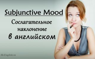 Сослагательное наклонение в английском — Subjunctive mood
