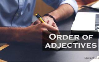 Порядок прилагательных в английском языке — Order of adjectives