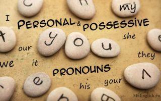 Личные местоимения, притяжательные местоимения в английском языке — personal pronouns, possessive pronouns