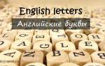 Английские буквы: названия и произношение английских букв