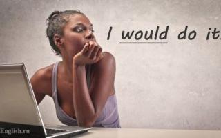 Модальный глагол Would в английском языке: употребление, перевод, чем отличается от will