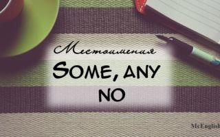 Some any no — отрицательные и неопределенные местоимения в английском языке