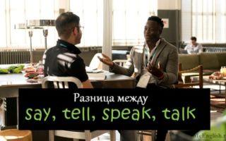 Глаголы говорения say, tell, speak, talk: в чем между ними разница и какой выбрать