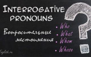 Загадочные Wh-pronouns или все о вопросительных местоимениях в английском языке