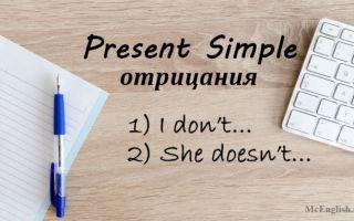 Present Simple отрицание (negative sentences): правила образования и употребления, примеры