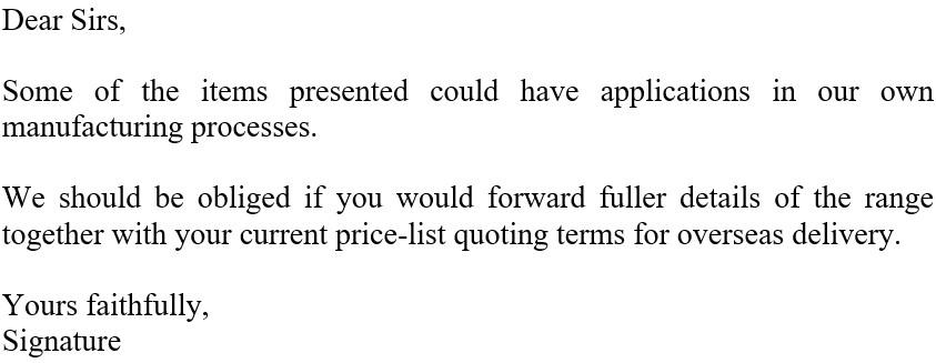 письмо запрос о предоставлении информации образец