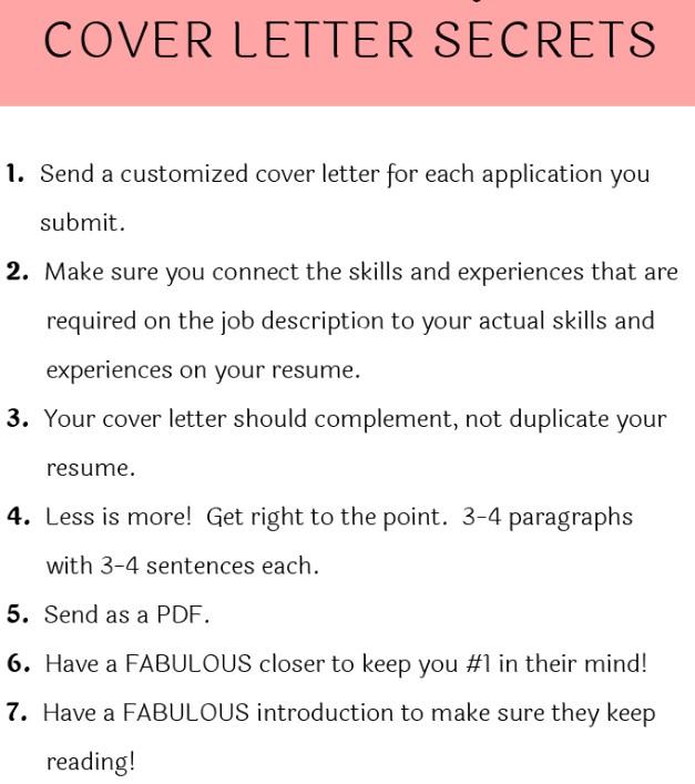 cover letter secrets